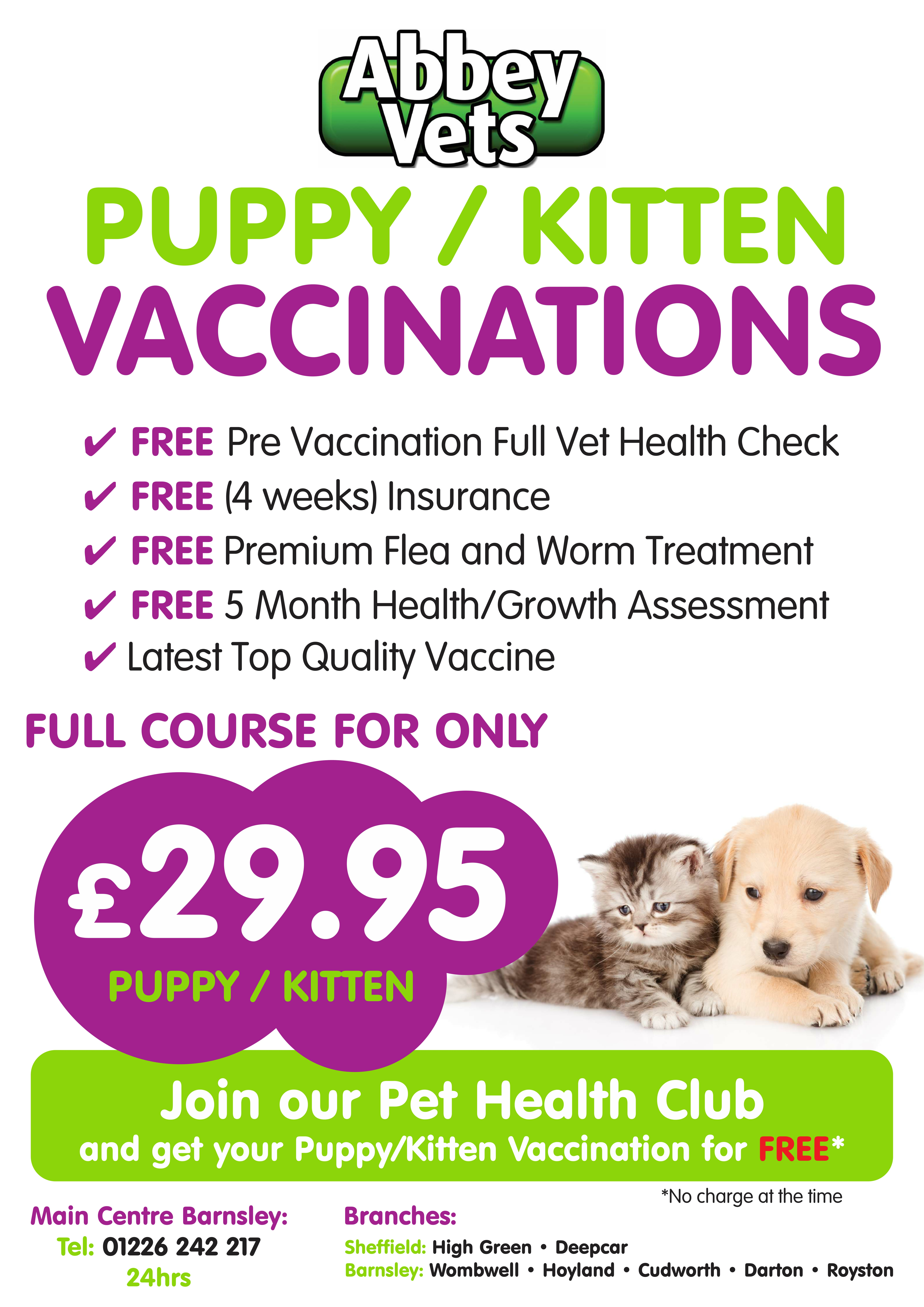 pet vaccination poster